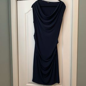 Esprit navy blue cocktail dress size L